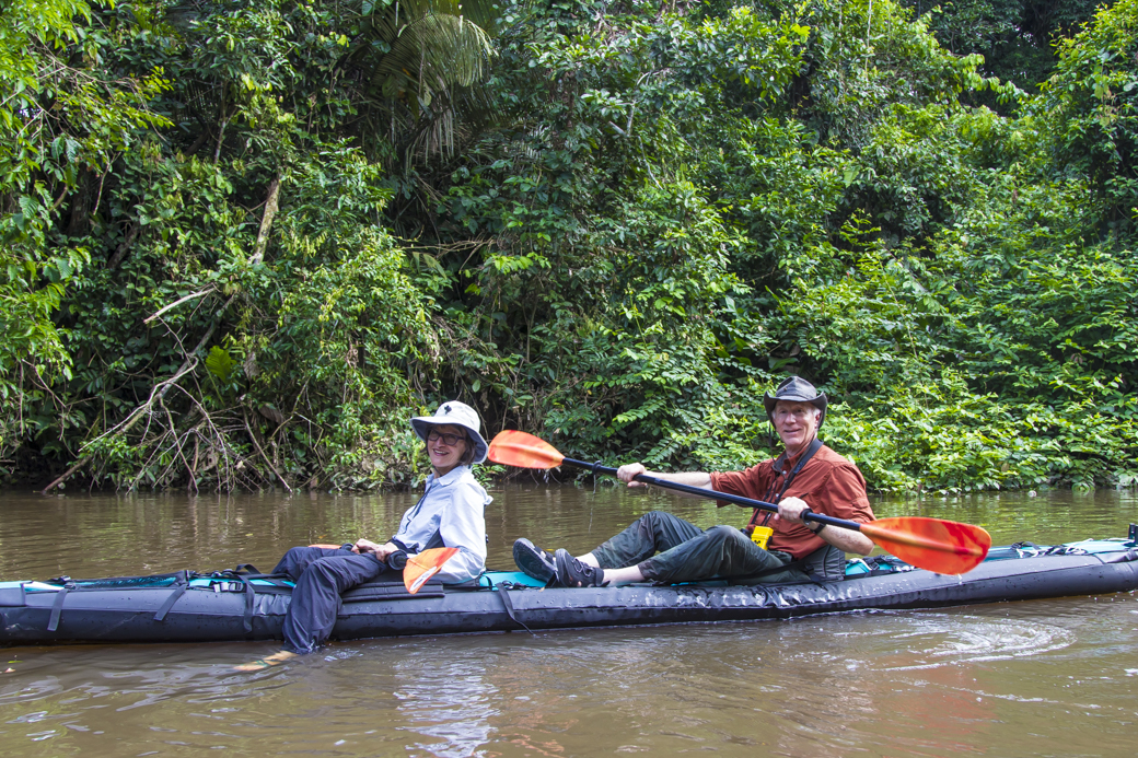 Couple Paddling on Amazon Kayaking Tour