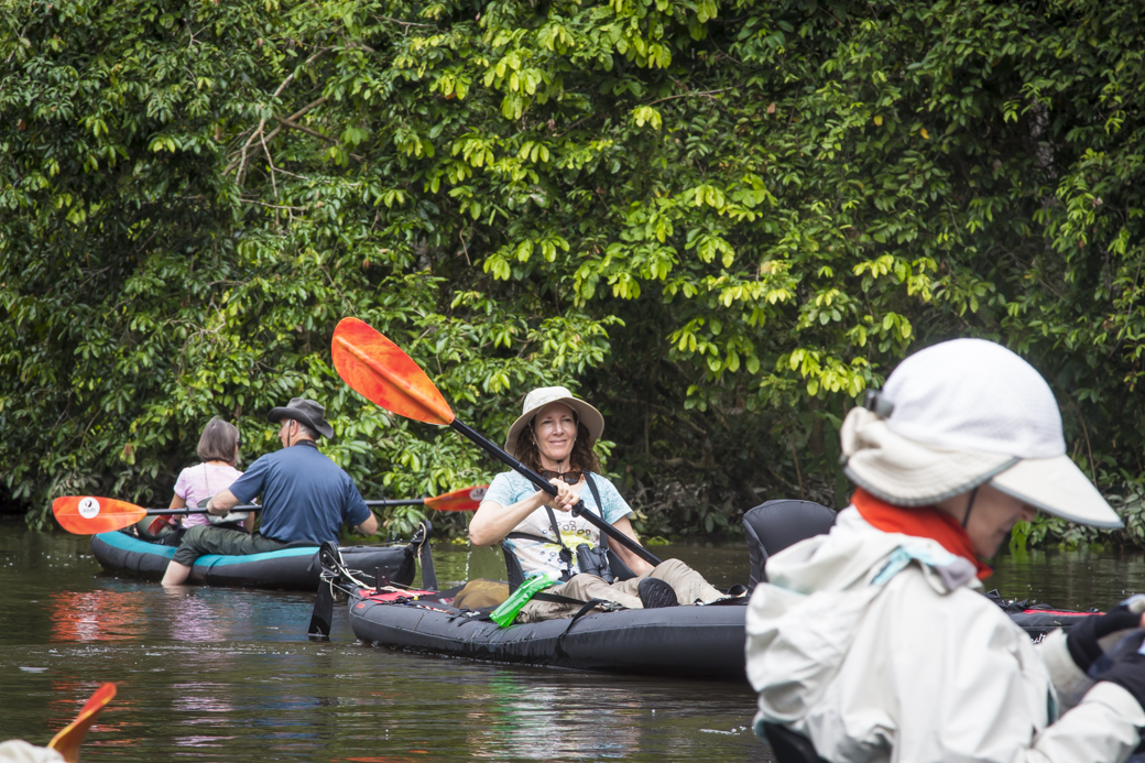 Teri Hannigan Kayaking in the Amazon