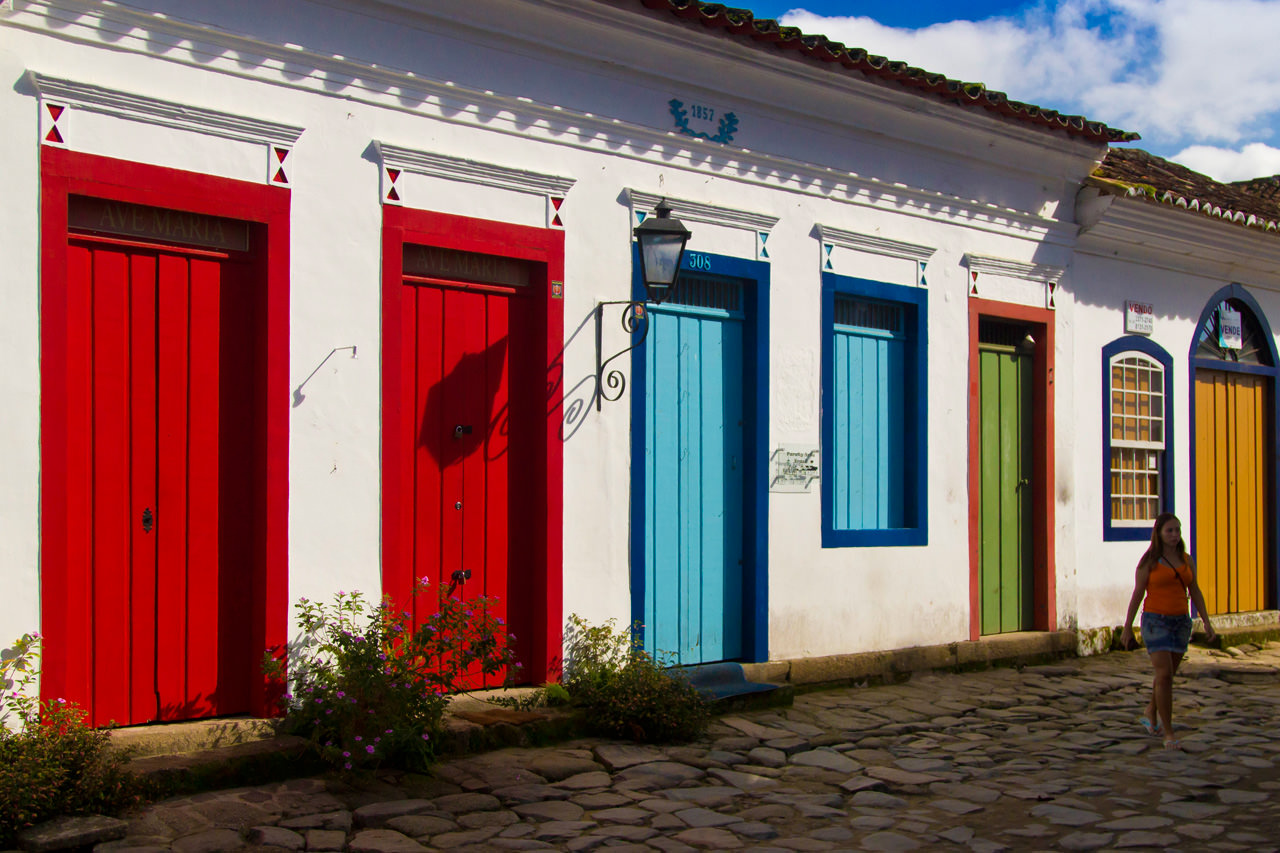 Colorful Doors in Colonial Paraty