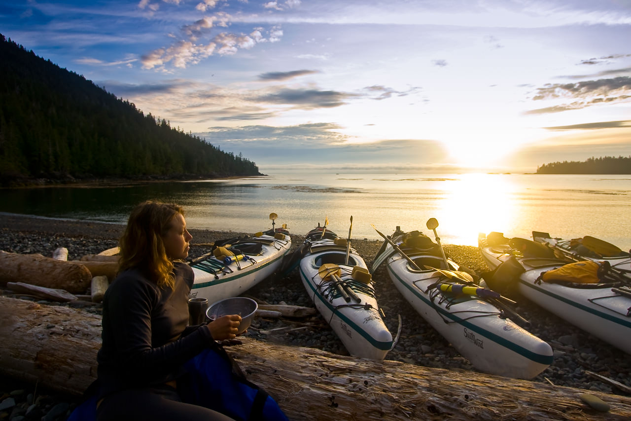 Haida Gwaii Kayaking - Sunrise Over Hecate Strait