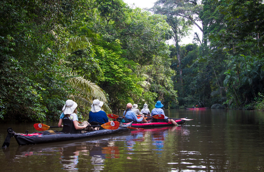 Amazon Kayaking tours - a kayak Lodge to Lodge Adventure