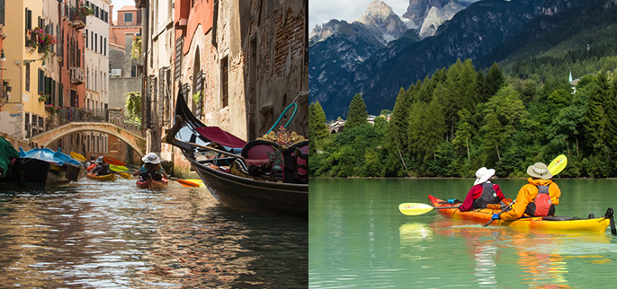 Italy - Venice and the Dolomites Kayaking Tours