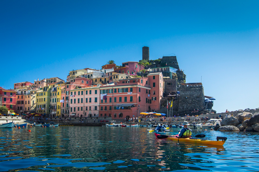 Kayaking trips and tours Cinque Terre Italy