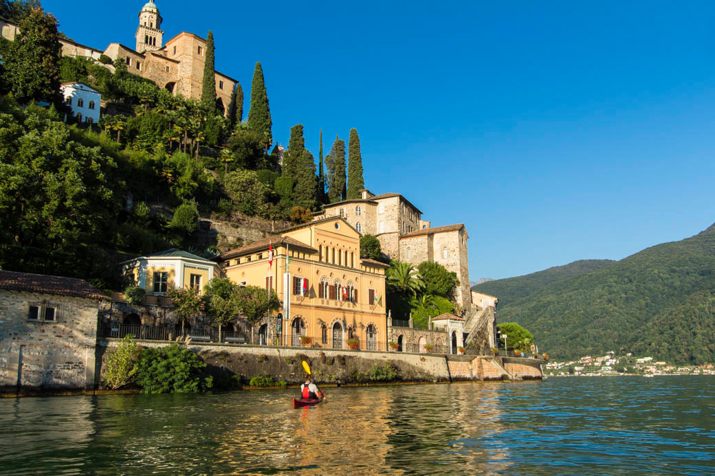 Kayaking Lago Lugano Italian Lake District Kayak tours