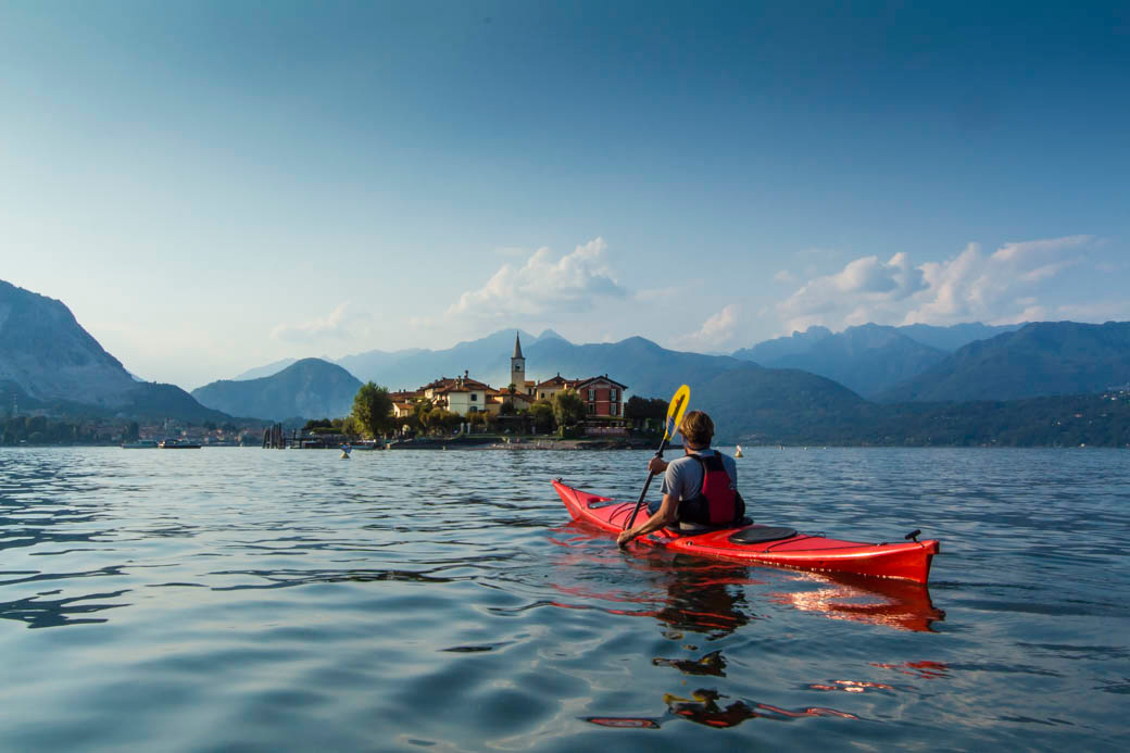 Kayaking the Borromeo Gulf on Lago Maggiore