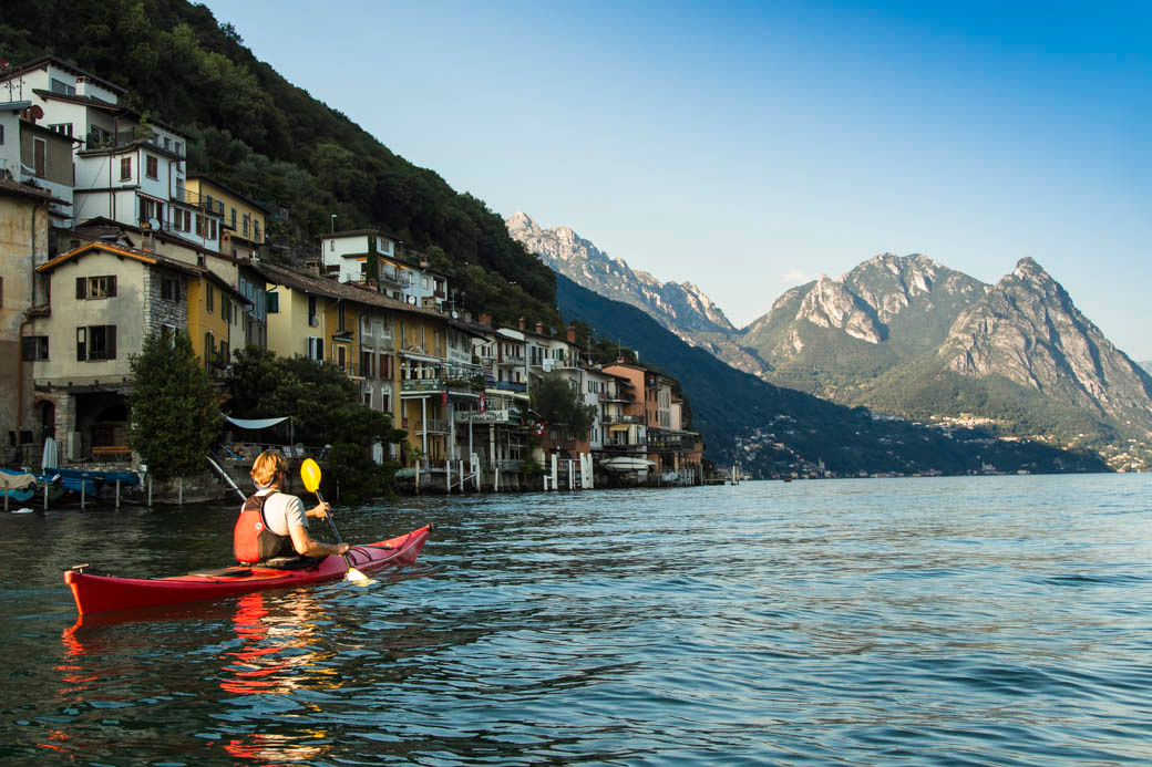 Kayaking the Italian Lake District