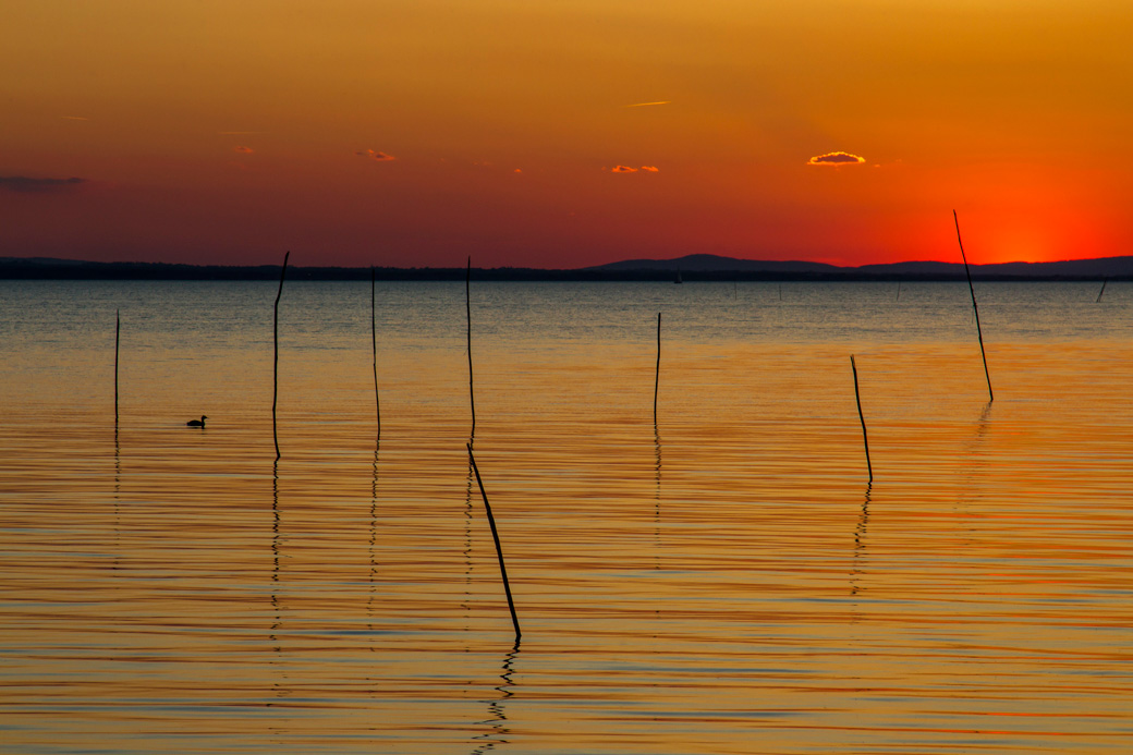 Sunset Lago Trasimeno, Umbria