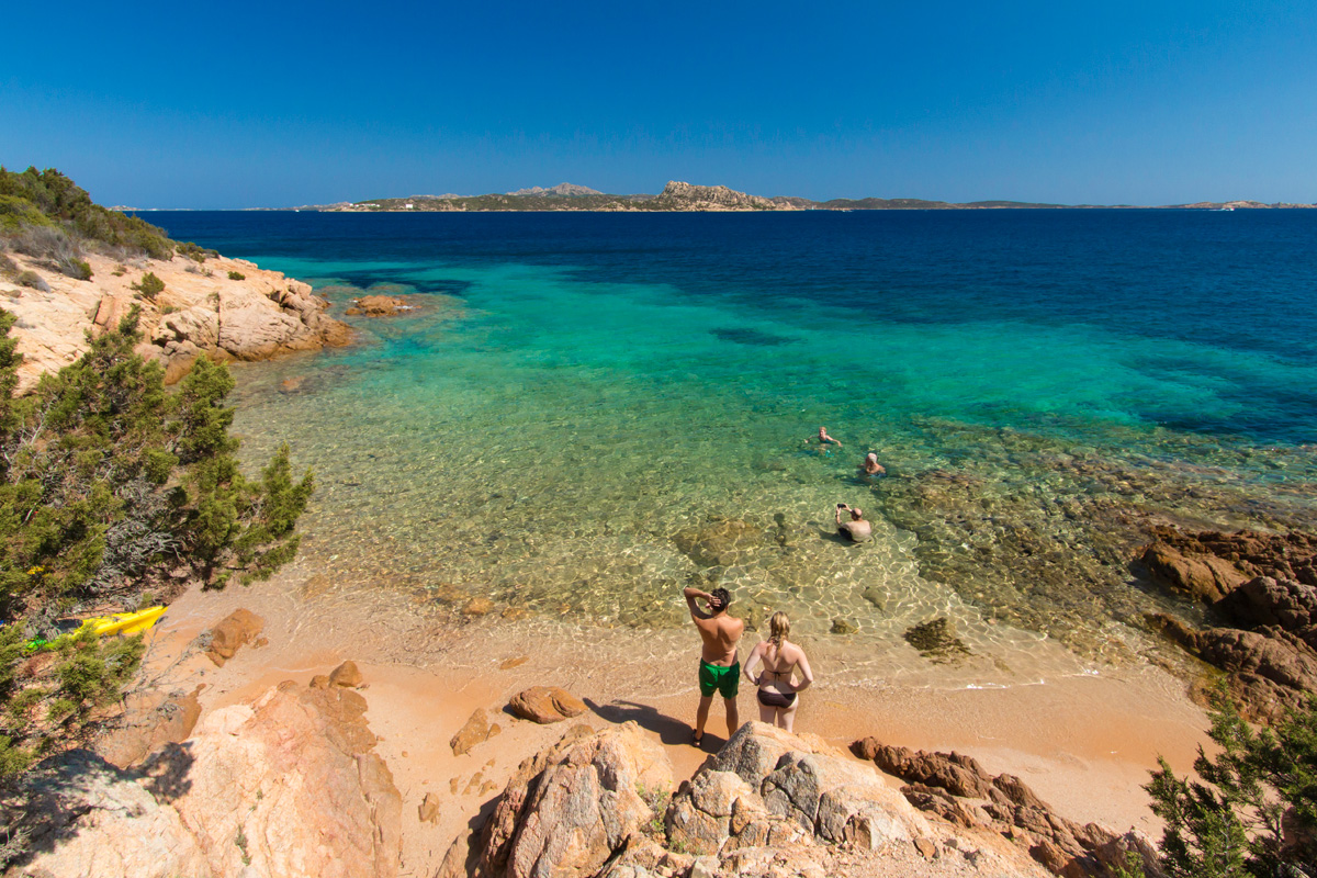 Beautiful water kayaking La Maddalena, Sardinia