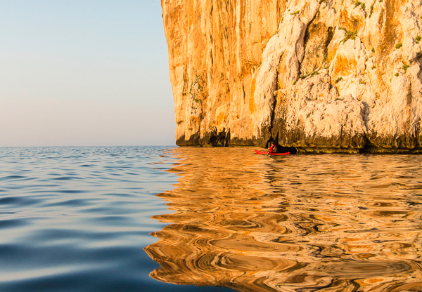 sea kayaking trips Sardinia Italy kayak tours