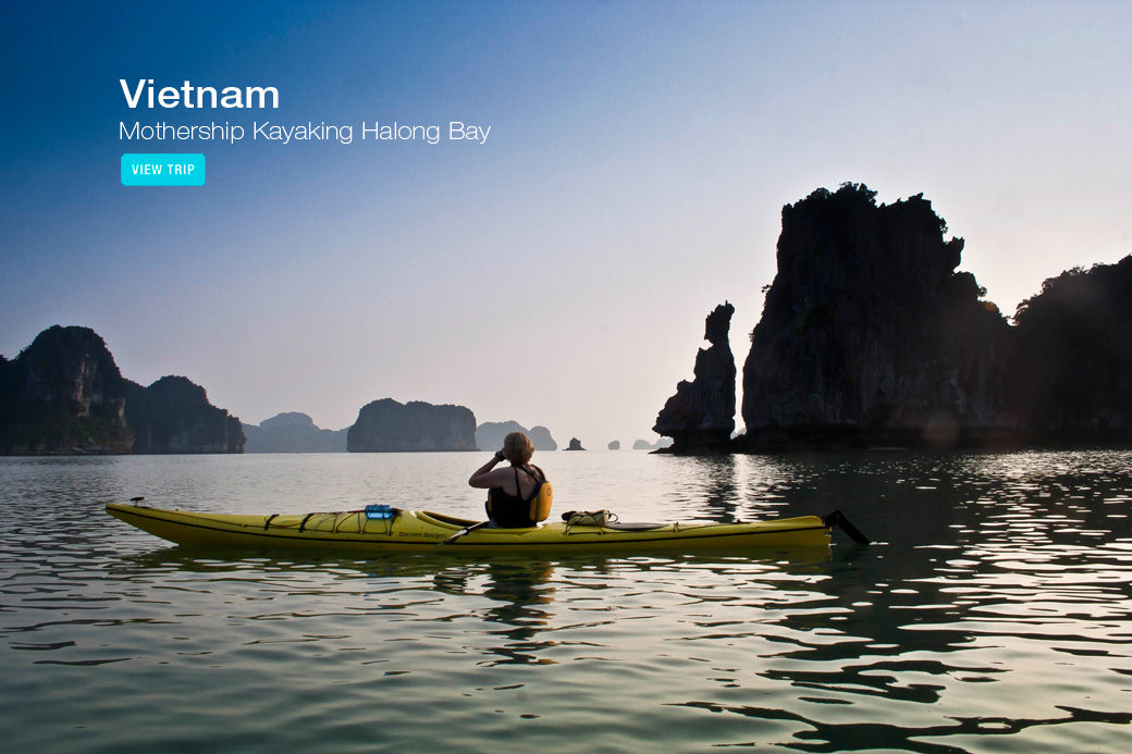 Vietnam kayaking tour Halong Bay